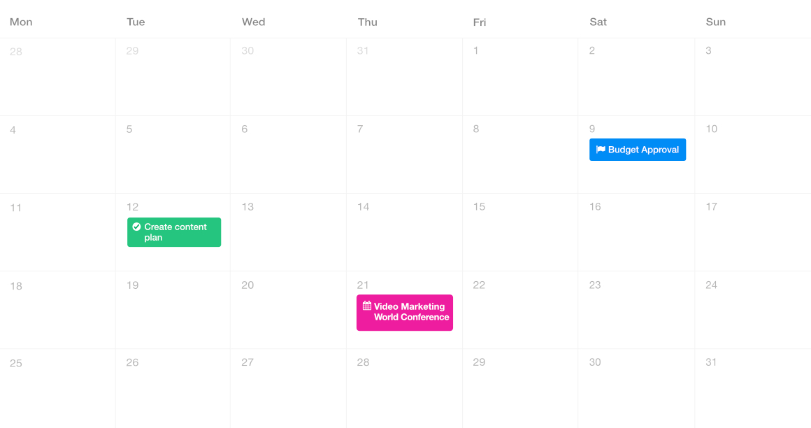 ProofHub calendar - best alternative to teamwork