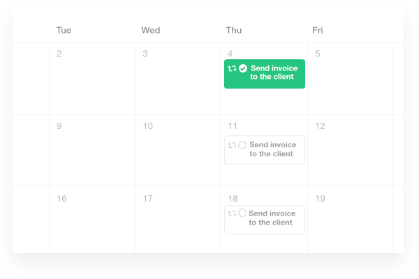 schedule task, add milestones with ProofHub's calendar