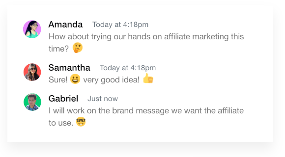 Use ProofHub emojis to give feedback