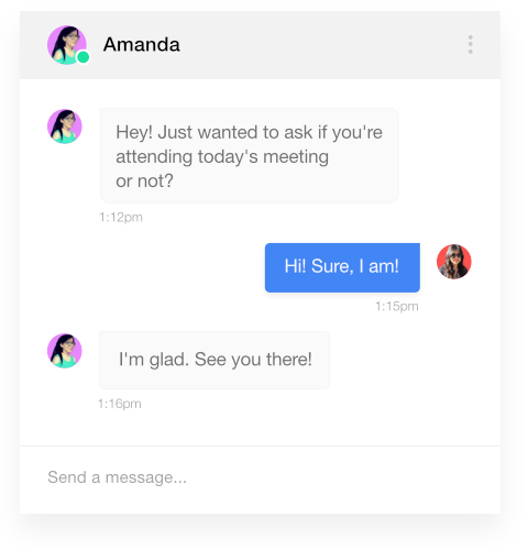 Send direct messages and get quick replies with ProofHub
