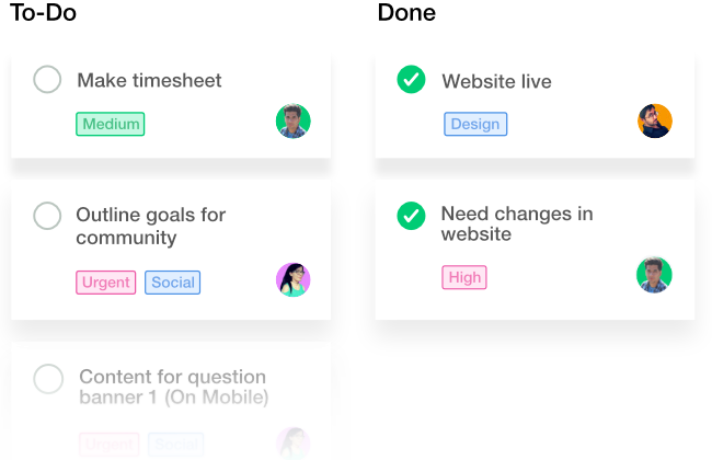 Add labels with task management tool
