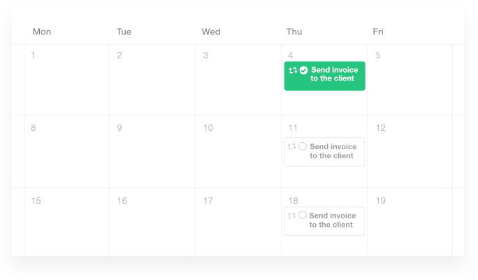 add recurring events and tasks with ProofHub's project calendar