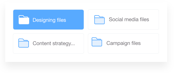 Store and organize files in folders