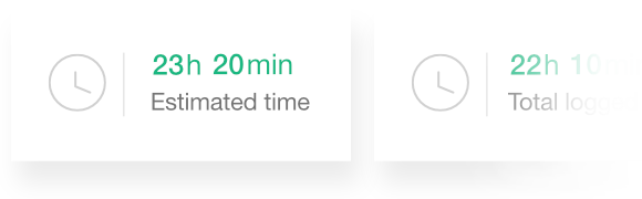 Set time estimates with ProofHub's time management tool