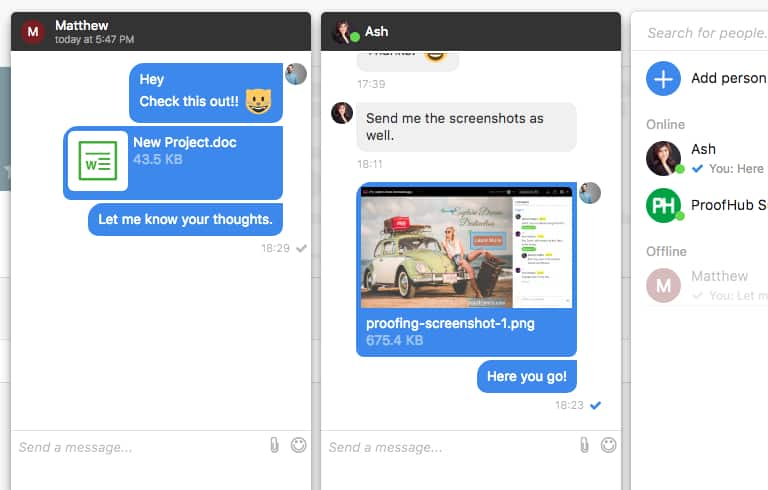 New in ProofHub: Introducing file sharing feature in chat