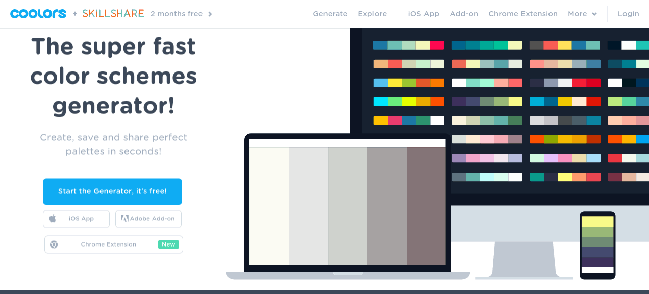 Coolors - Color scheme generator tool for designers