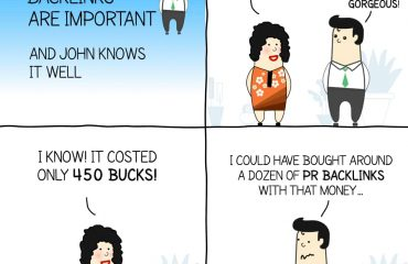 Backlinks are important comic strip