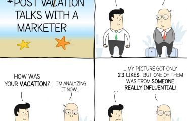 Post vacation talks with a marketer