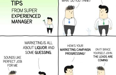 Marketing Tips Comic Strip With A Super Experienced Marketing Manager like John