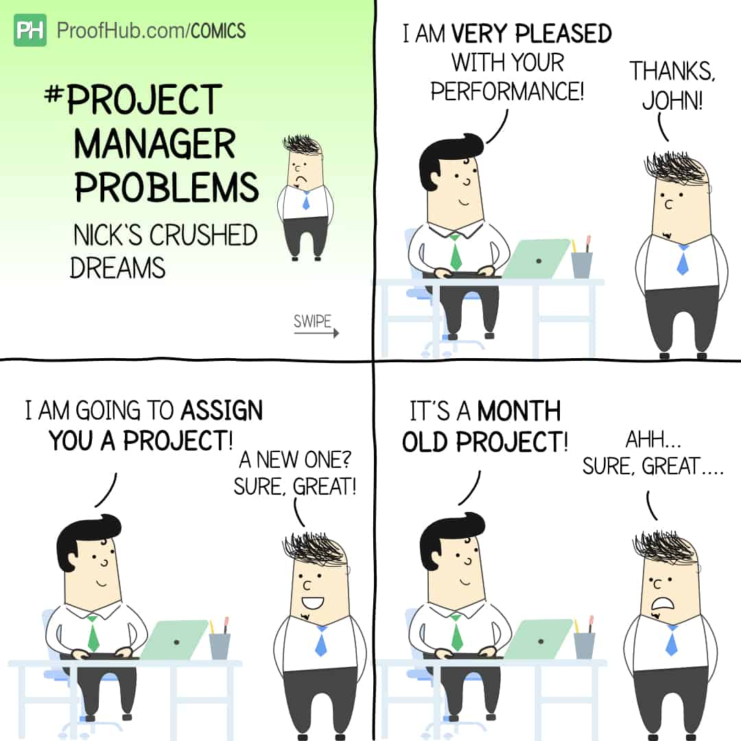 Project Manager Problems Comic Strip With John and Nick
