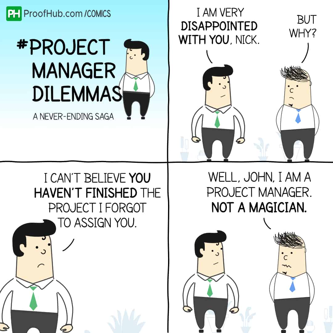 Project Manager Dilemmas, project manager humor, project manager jokes, project manager