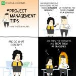 Project Manager Tips And How To Set Deadlines Comic Strip With Nick And Nancy