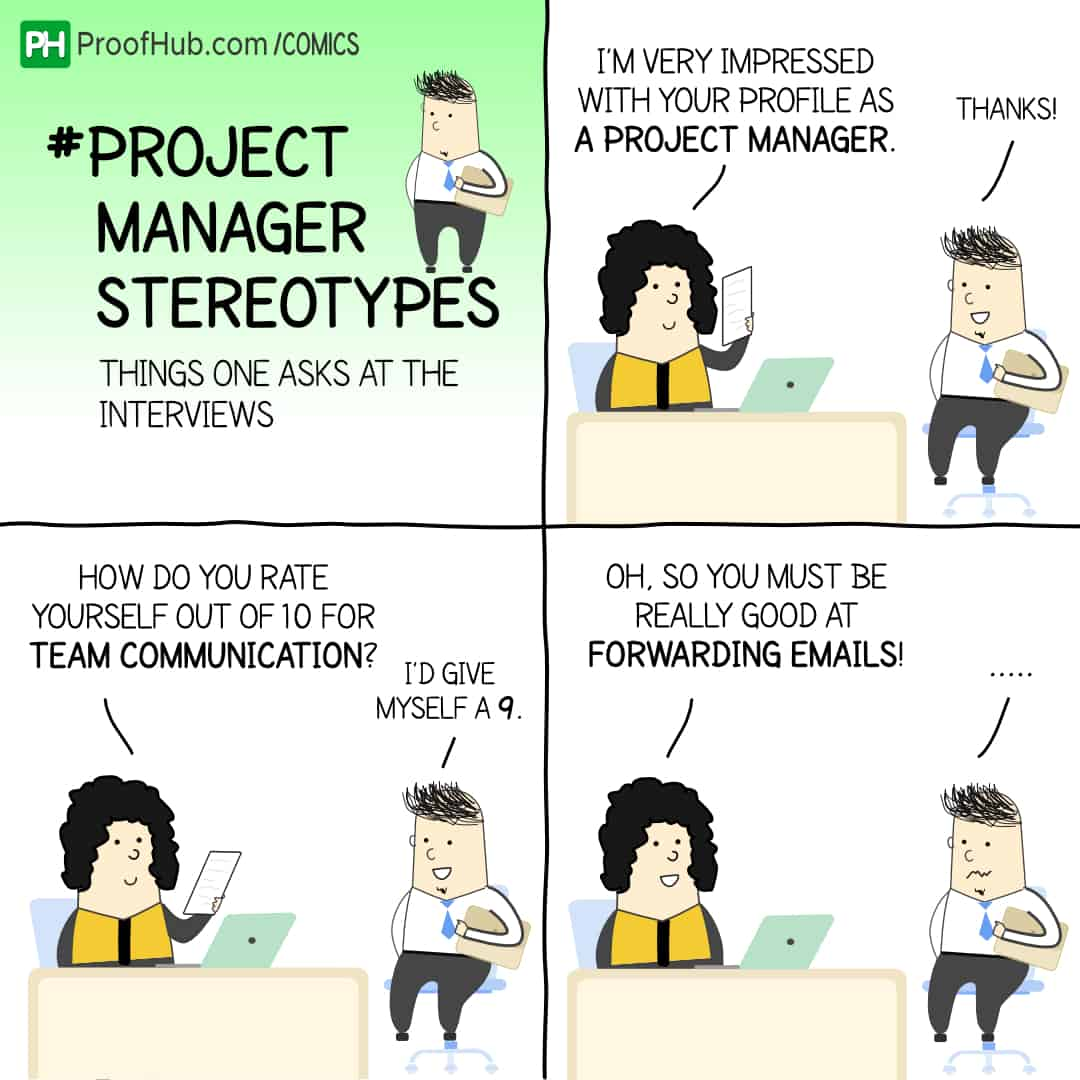 Project Manager Stereotypes Comic Strip with Nick and Nancy