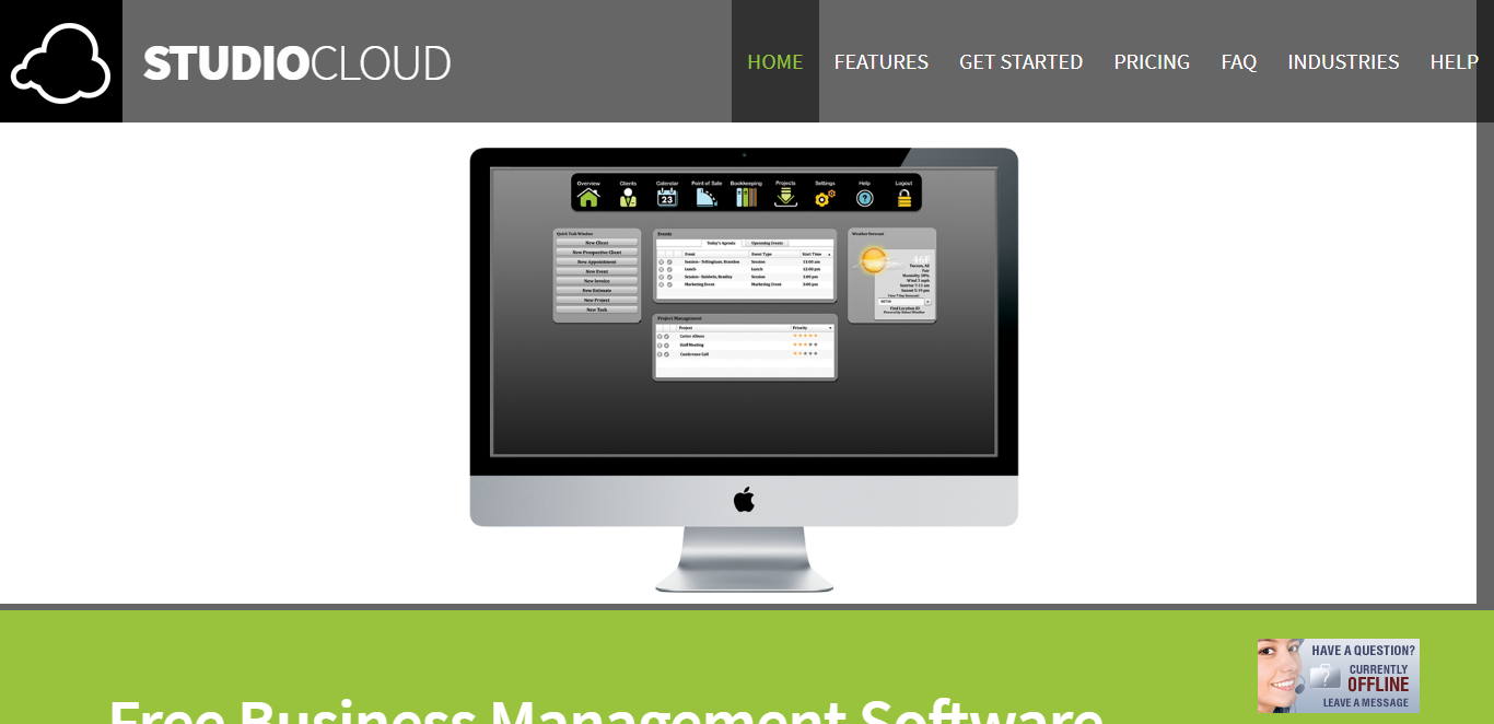 studiocloud business management tool