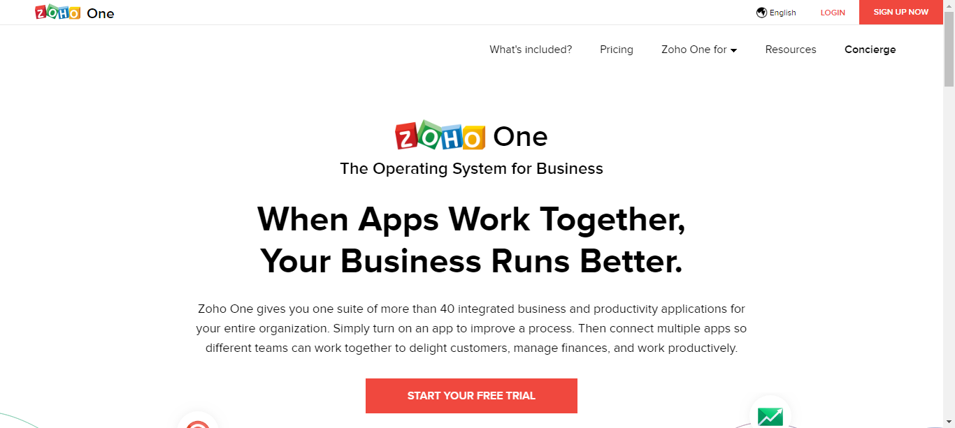 zoho one business management suit