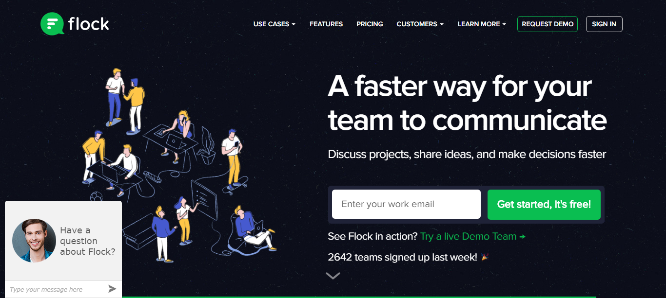 Flock team collaboration tool.