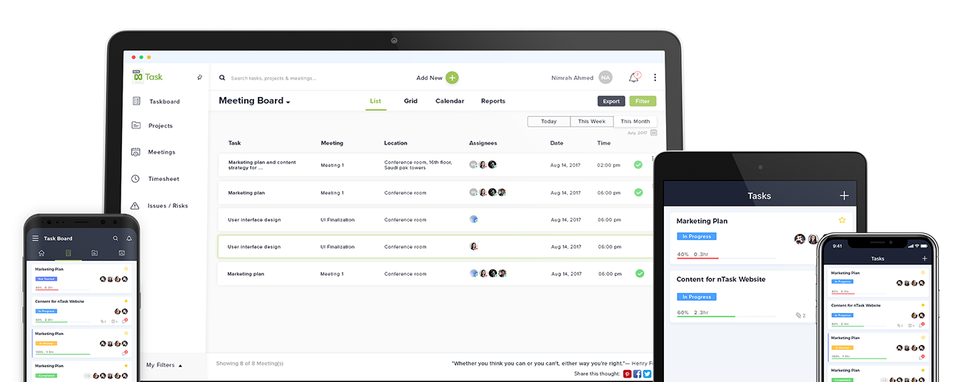 ntask as project management tool