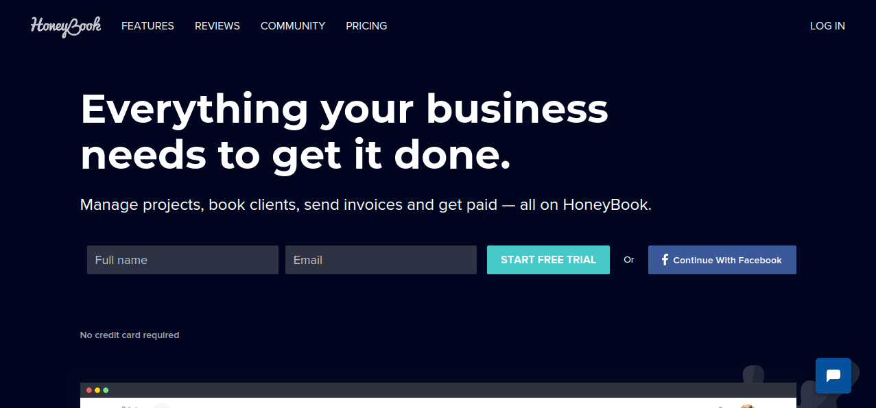 HoneyBook best business management software