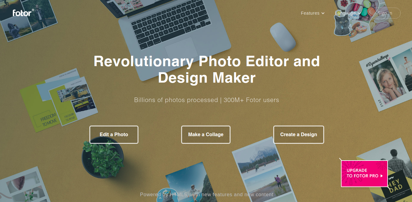 Fotor as designer tool