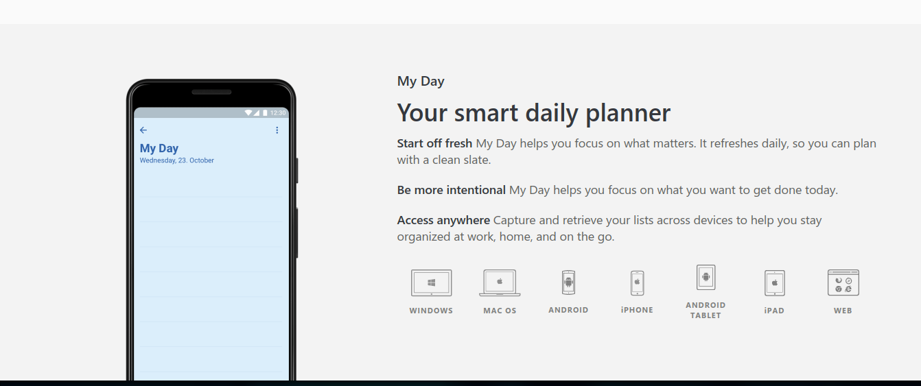 Competitor to todoist is wunderlist