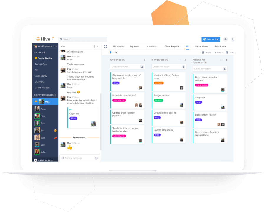 Hive - Slack project management alternatives
