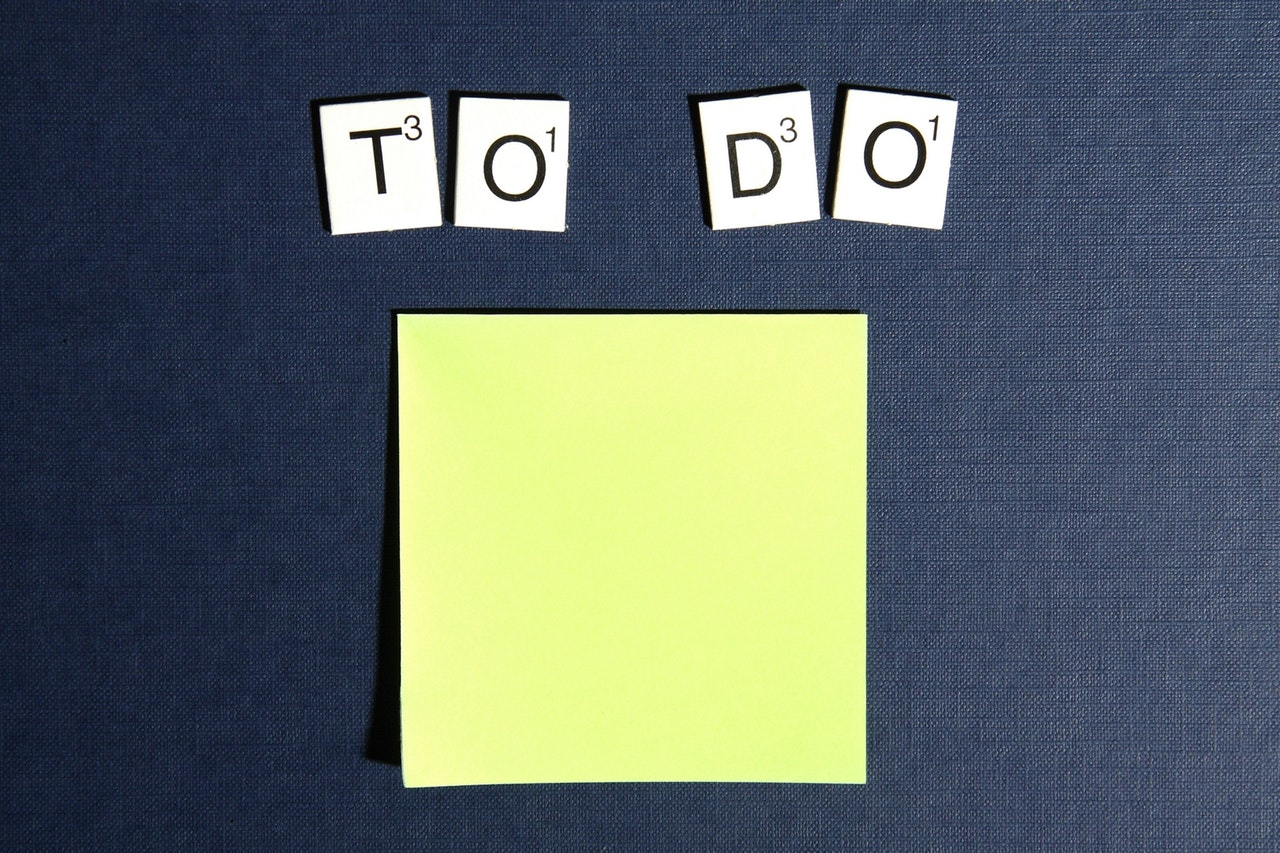 Make a to-do list at the end of each day