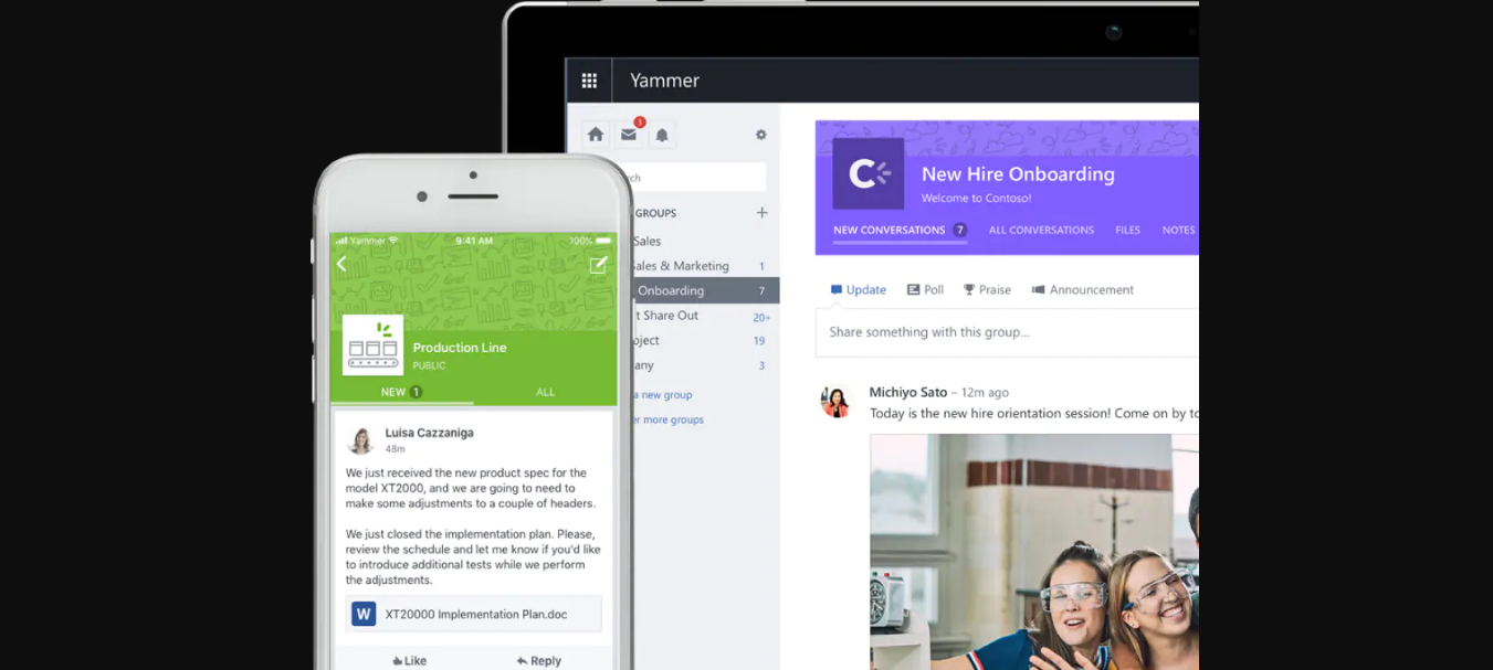Yammer - slack replacement 2019