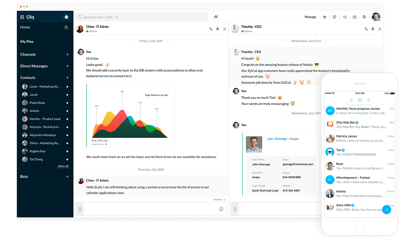 Zoho cliq - best Slack alternatives