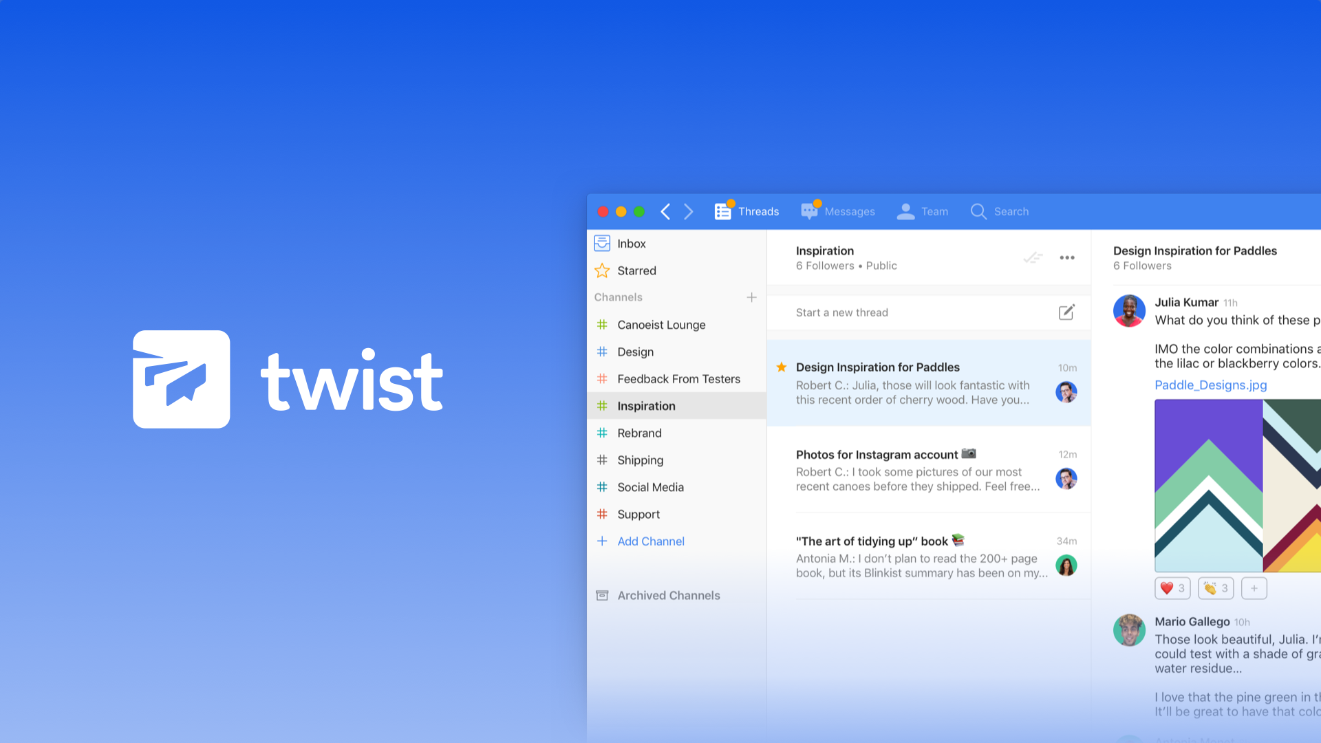 Twist - Best slack substitutes for collaboration