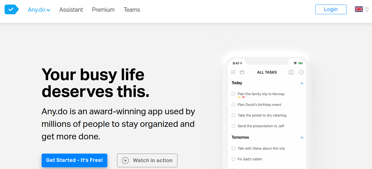 Any do, best to-do list app for mac