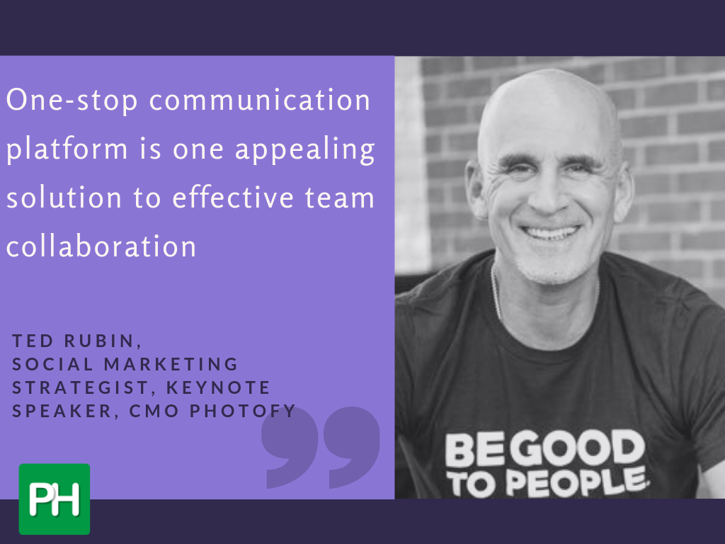 Ted Rubin affirms the need for one-stop communications platforms