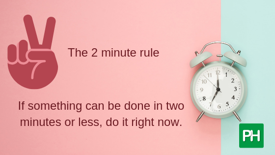 The two-minute rule to beat procrastination