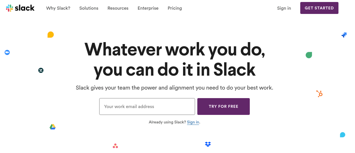 Slack - Confluence alternative