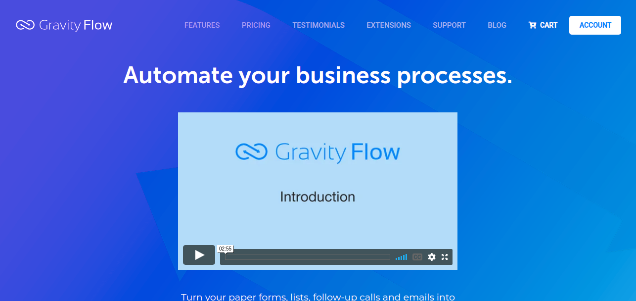 Gravity flow is workflow management software