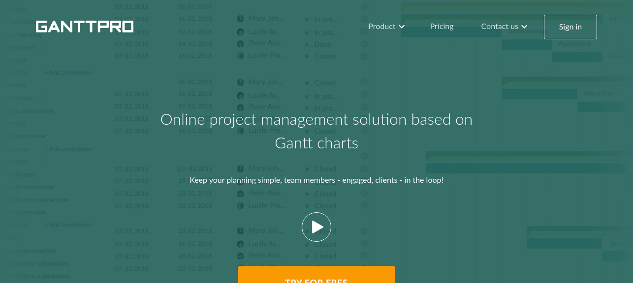 Online Gantt Chart Software for Project Planning GanttPRO