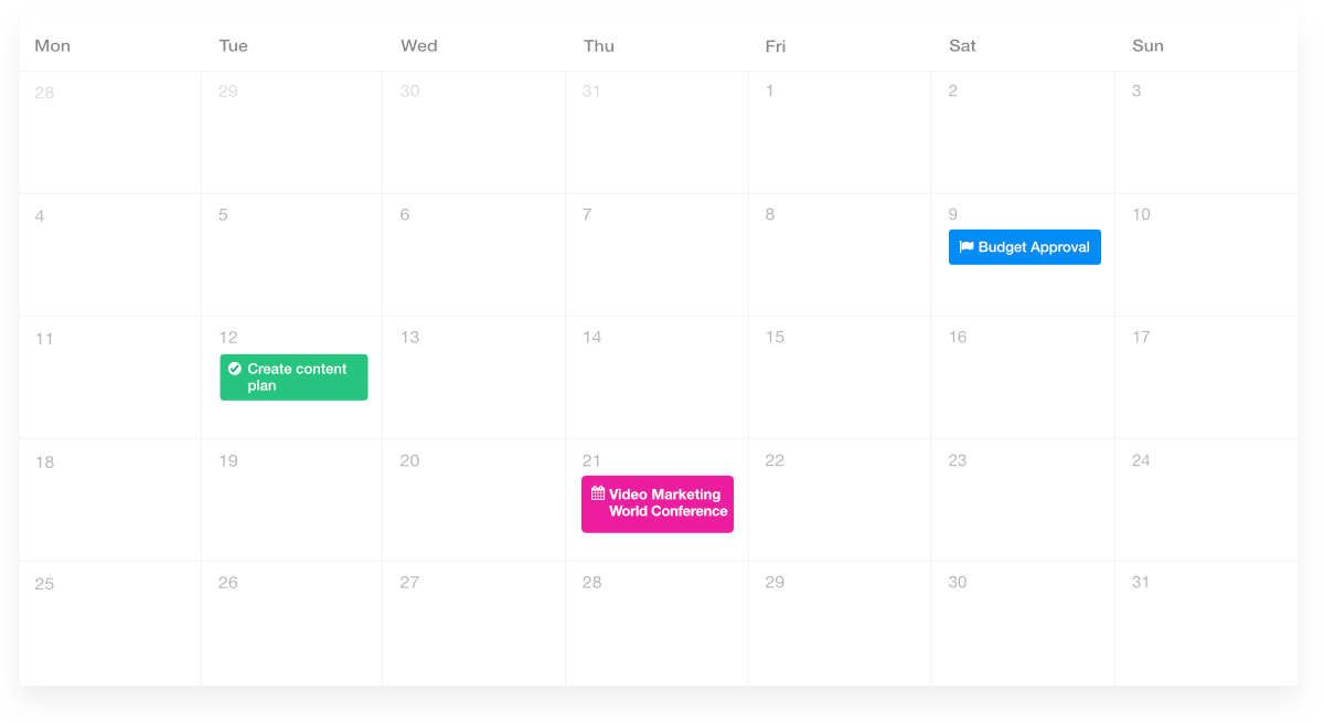 ProofHub Project Calendar