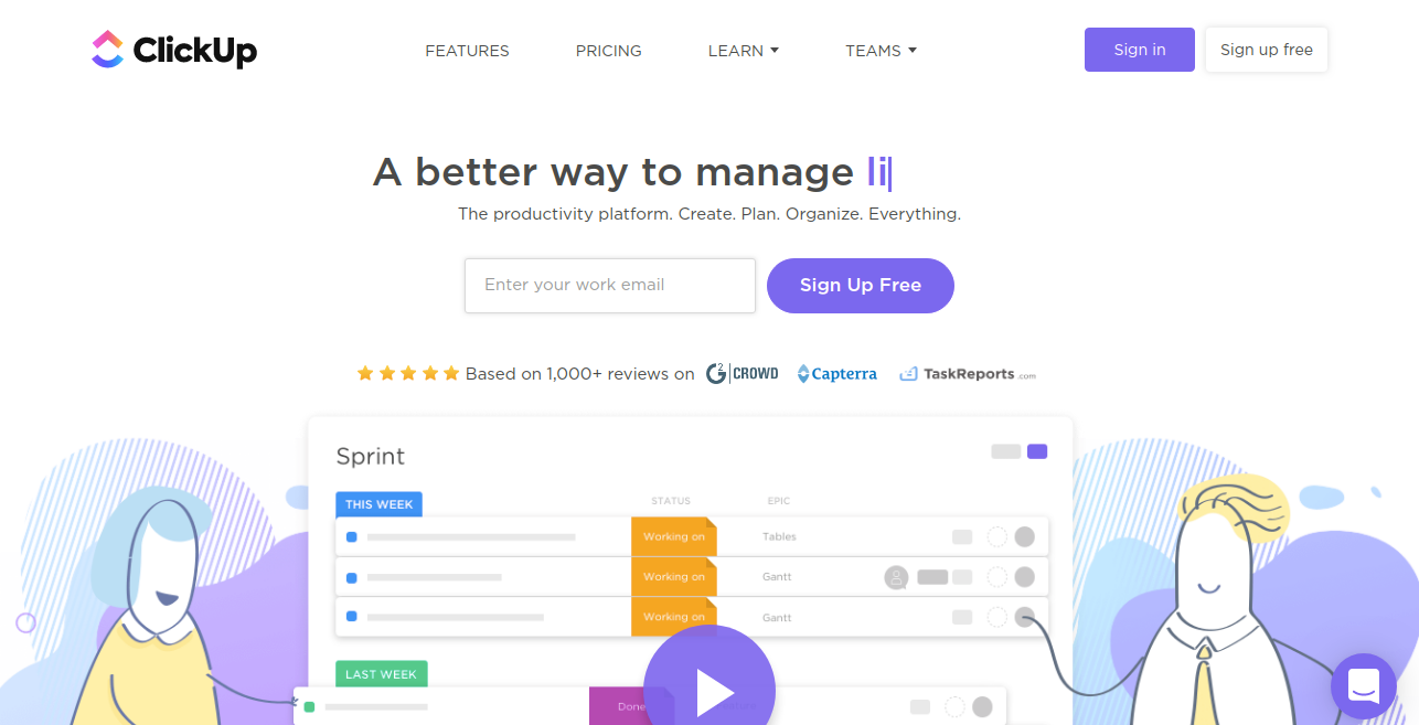 Click up as airtable competitor