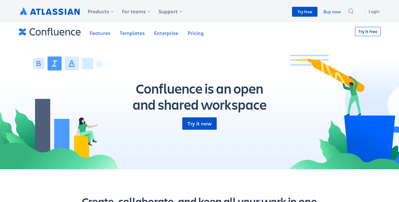 Confluence as project management software