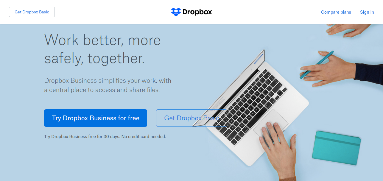 Dropbox as File storage apps