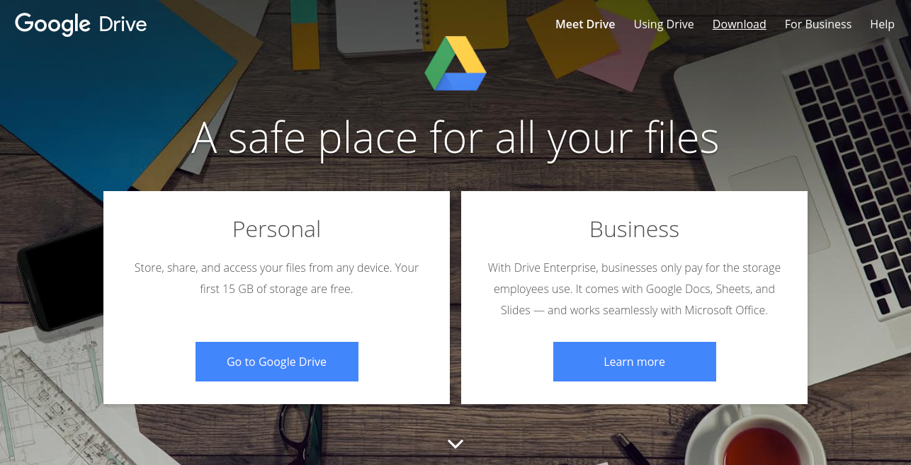 Google Drive as file storage app