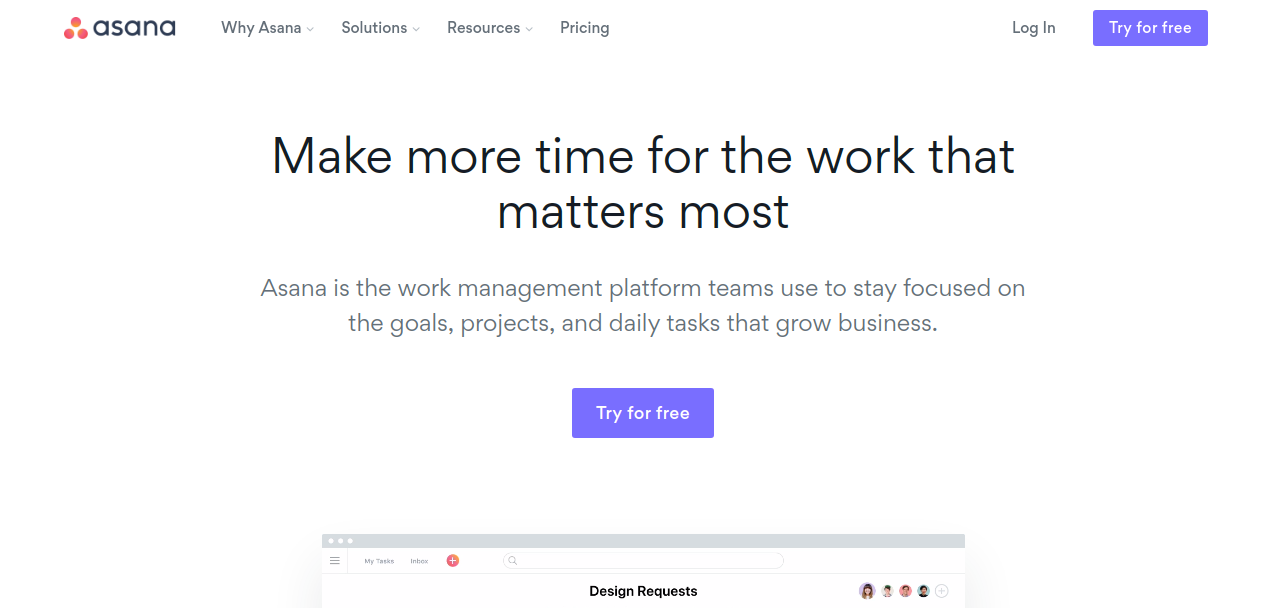 Asana is best inviosnapp alternative