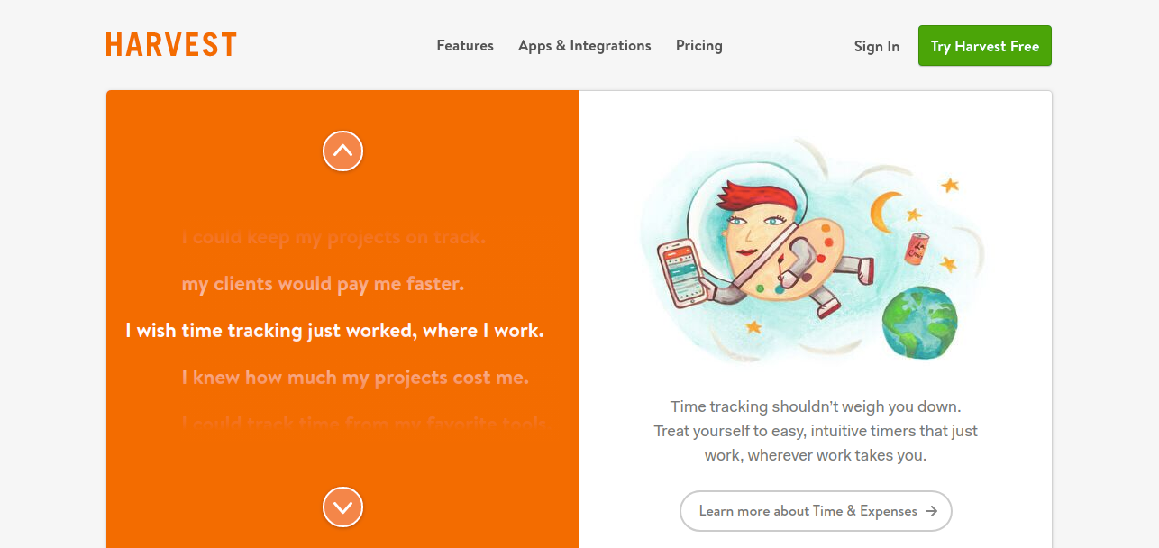 Harvest - Productivity tool for time-tracking