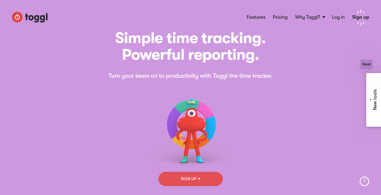 Tooggl as best time tracking tool for productivity