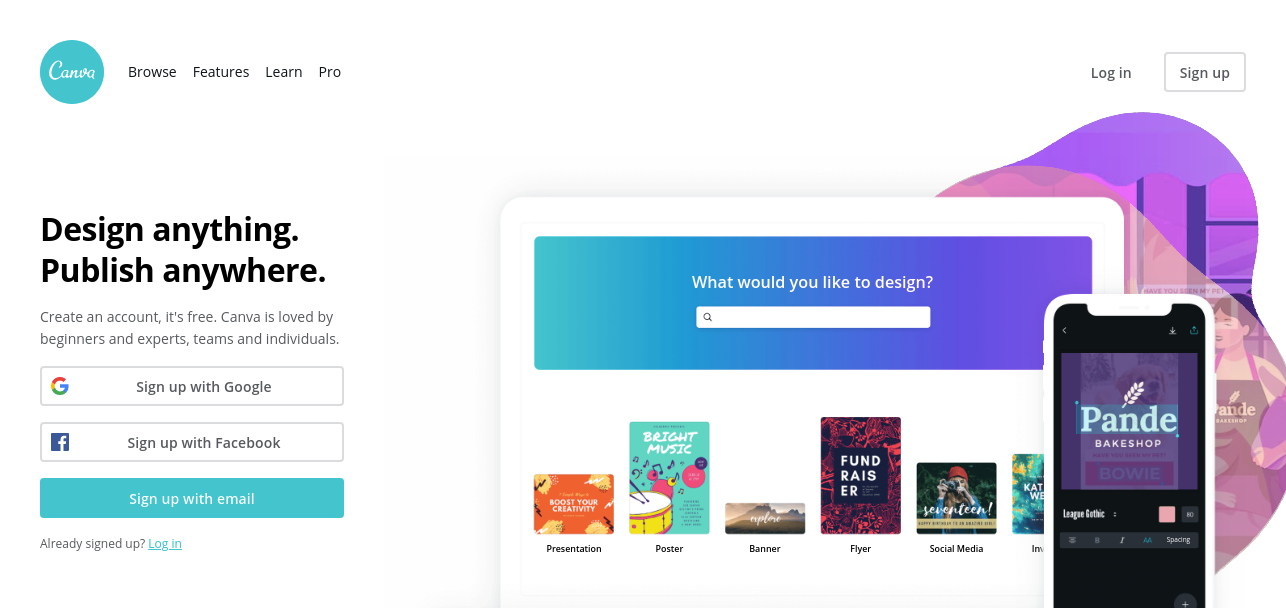 Canva tool to create almost anything for your marketing campaigns