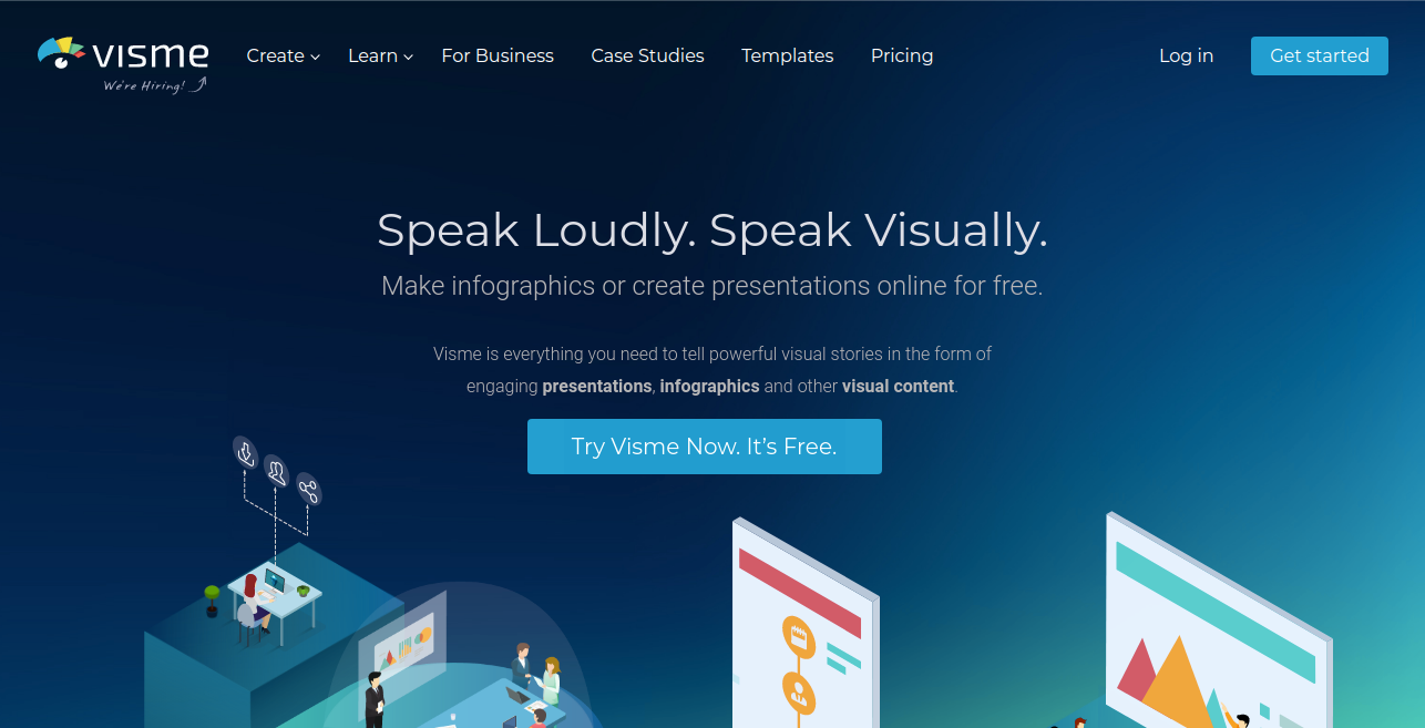 Visme productivity tool for marketing team