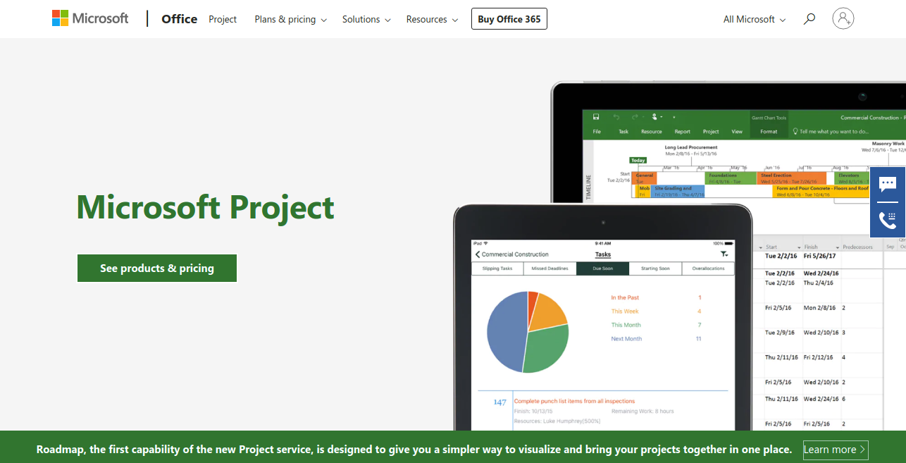 Microsoft Project as teamgantt competitors
