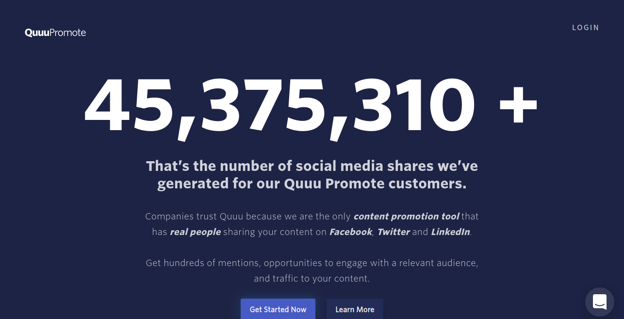 Quuu Promote Tools for the Content Promoter