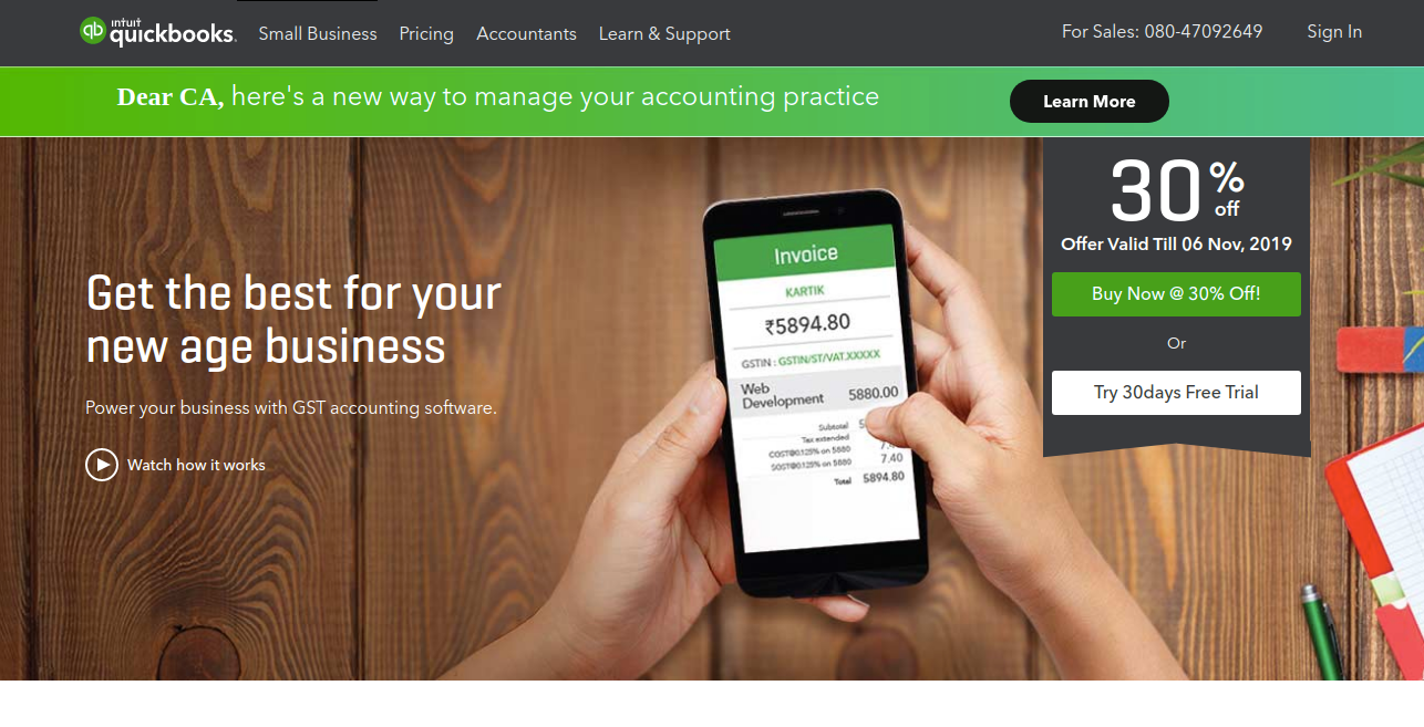 QuickBooks as productvity app