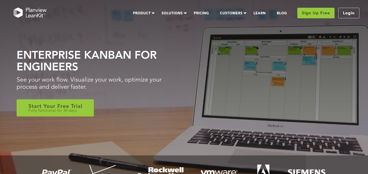 Kanban app for project management - Leankit