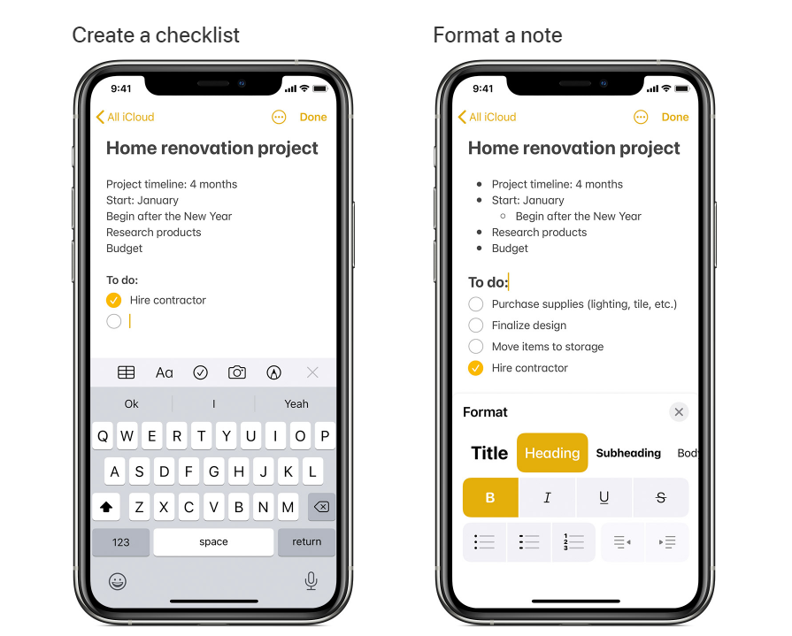 Apple Notes as best note taking application